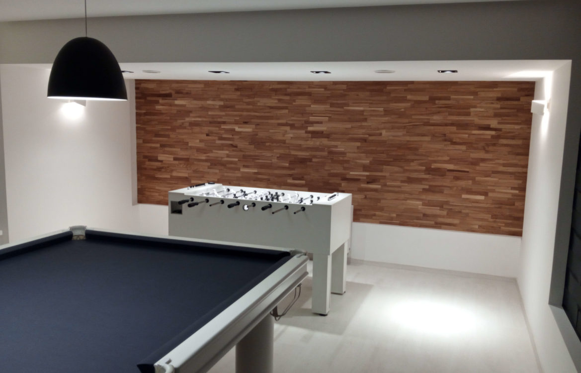 Entertainment Room — Brick Collection — Ash Thermo Wood